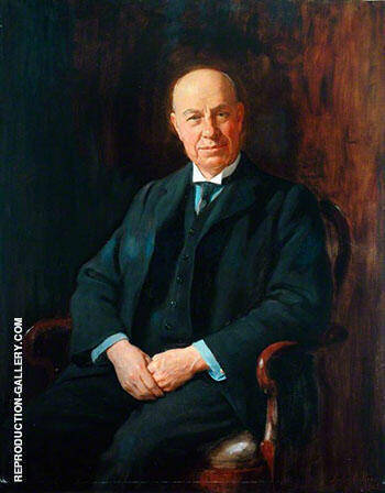 Richard Hill Dawe Solicitor to the Great Northern Railway 1923 Painting By ...