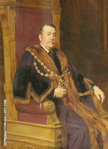 Samuel Radcliffe Platt Mayor of Oldham 1887-1889 By John Maler Collier Replica Paintings on Canvas - Reproduction Gallery