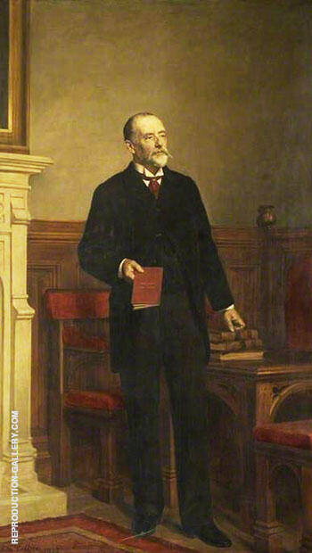 Samuel Whitbread 1830-1915, MP for Bedford By John Maler Collier Replica Paintings on Canvas - Reproduction Gallery