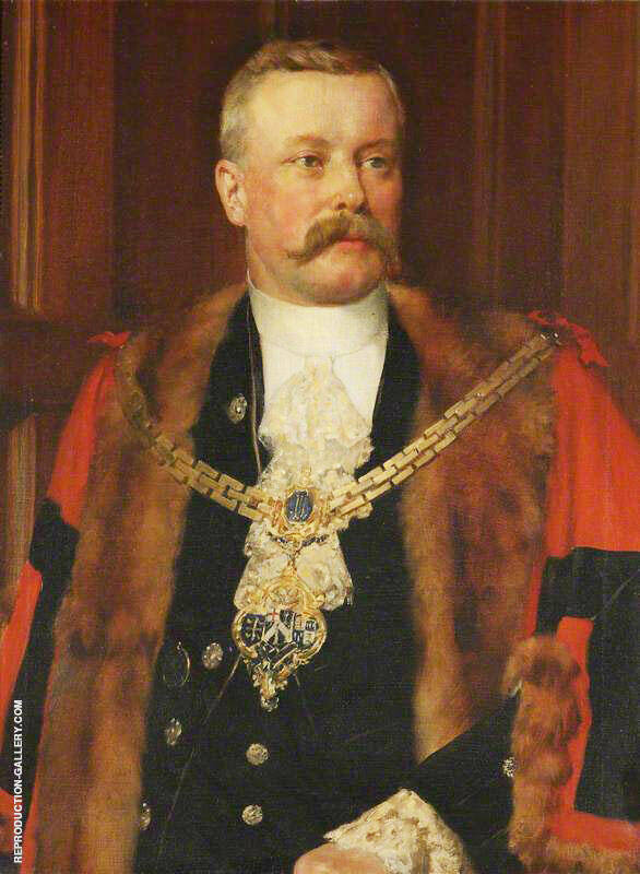 Sir Charles Tertius Mander 1852-1929, 1st Bt, as Mayor of Wolverhampton 1892-96 By John Maler Collier - Oil Paintings & Art Reproductions - Reproduction Gallery