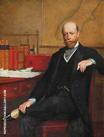 Sir William Hillier Onslow 1853-1911, 4th Earl of Onslow 1903 By John Maler Collier - Oil Paintings & Art Reproductions - Reproduction Gallery