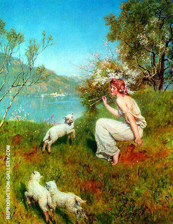 Spring By John Maler Collier - Oil Paintings & Art Reproductions - Reproduction Gallery