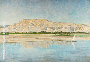Theban Hills from Luxor 1920 By John Maler Collier
