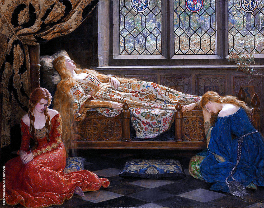 The Sleeping Beauty 1921 Painting By John Maler Collier