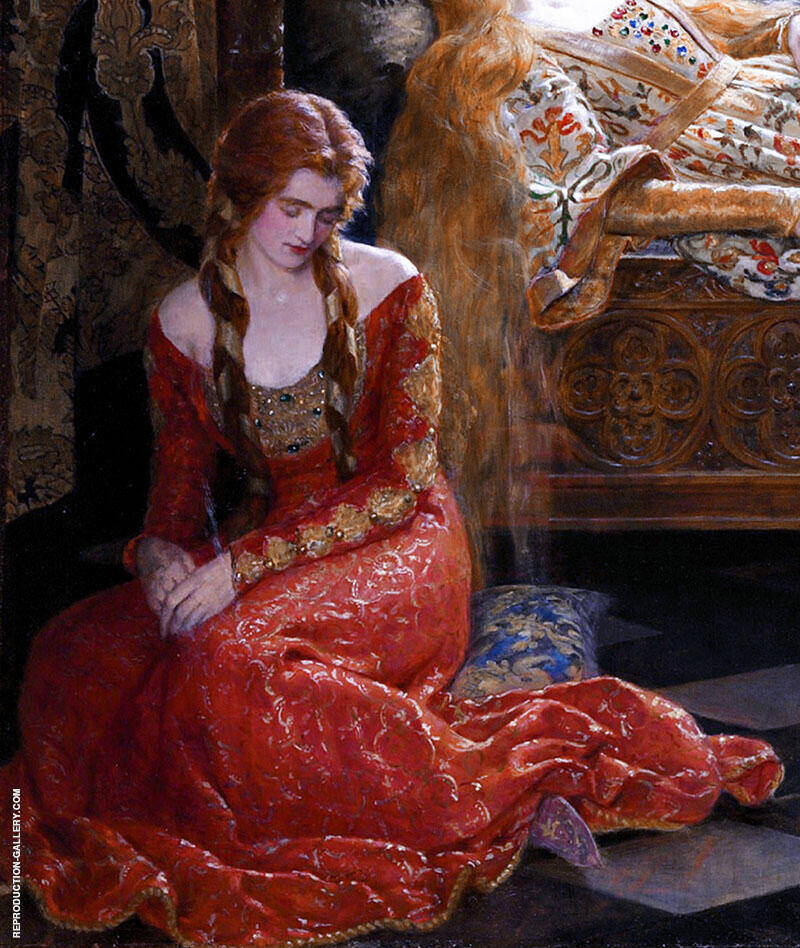 The Sleeping Beauty 1921 Detail By John Maler Collier Replica Paintings on Canvas - Reproduction Gallery