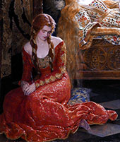 The Sleeping Beauty 1921 Detail By John Maler Collier