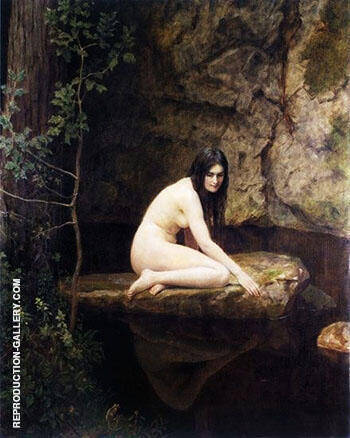 The Water Nymph Painting By John Maler Collier - Reproduction Gallery