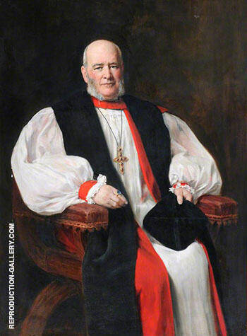 Watkin Herbert Williams 1845-1944, Bishop of Bangor By John Maler Collier Replica Paintings on Canvas - Reproduction Gallery
