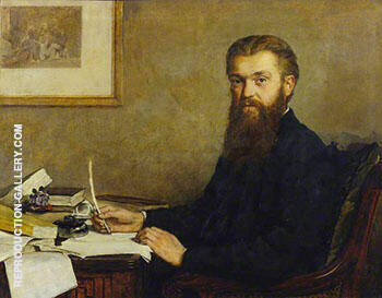 William Kingdon Clifford 1878 By John Maler Collier - Oil Paintings & Art Reproductions - Reproduction Gallery