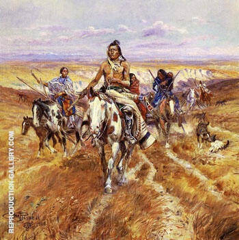 When the Plains Were His 1906 By Charles M Russell