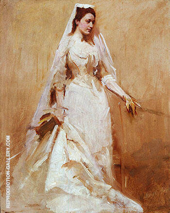 A Bride 1895 By Abbott H Thayer Replica Paintings on Canvas - Reproduction Gallery
