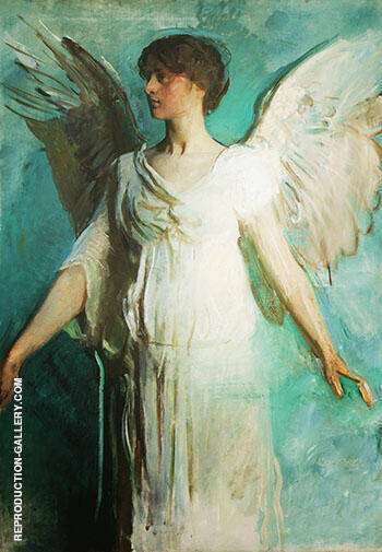 An Angel 1893 By Abbott H Thayer - Oil Paintings & Art Reproductions - Reproduction Gallery