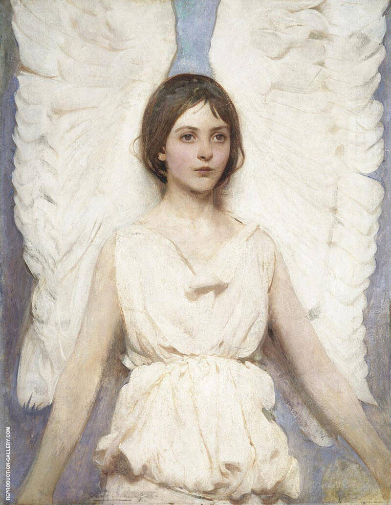 Angel 1887 Painting By Abbott H Thayer - Reproduction Gallery