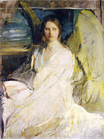 Angel 1900-1903 Painting By Abbott H Thayer - Reproduction Gallery