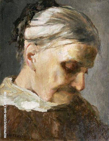A Study of an Old Woman 1890 By Abbott H Thayer - Oil Paintings & Art Reproductions - Reproduction Gallery
