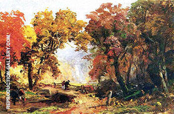 Autumn Landscape 1866 By Abbott H Thayer - Oil Paintings & Art Reproductions - Reproduction Gallery