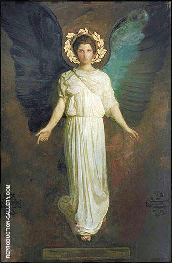 A Winged Figure 1904 By Abbott H Thayer - Oil Paintings & Art Reproductions - Reproduction Gallery
