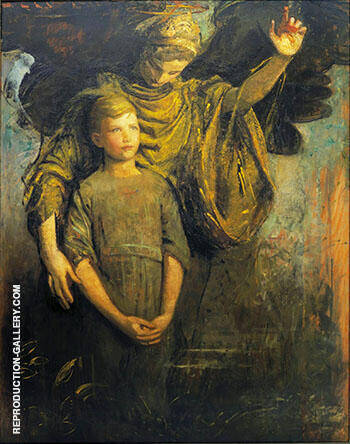 Boy and Angel Painting By Abbott H Thayer - Reproduction Gallery