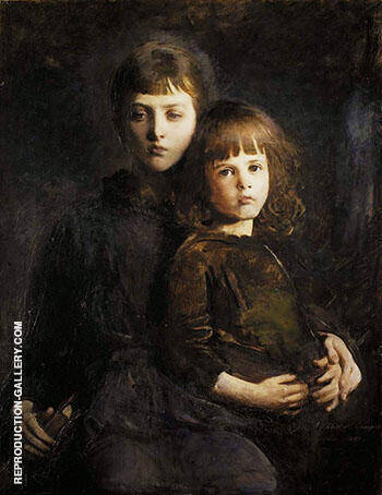 Brother and Sister Mary and Gerald Thayer 1889 By Abbott H Thayer Replica Paintings on Canvas - Reproduction Gallery