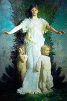 Caritas 1895 By Abbott H Thayer