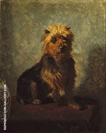 Chadwick's Dog 1874 By Abbott H Thayer - Oil Paintings & Art Reproductions - Reproduction Gallery