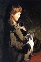 Favorite Kitten By Abbott H Thayer