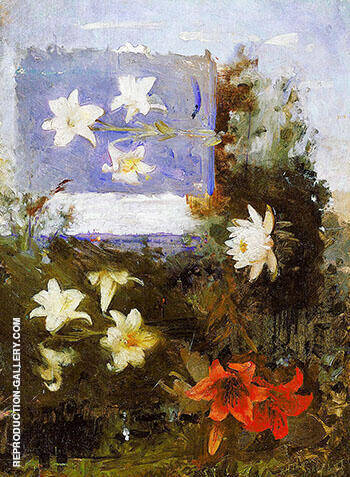 Reproduction of Flower Studies 1886 by Abbott H Thayer | Oil Painting Replica On CanvasReproduction Gallery