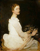 Girl in White 1888 By Abbott H Thayer