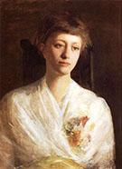 Girl in White Margaret Greene 1888 By Abbott H Thayer