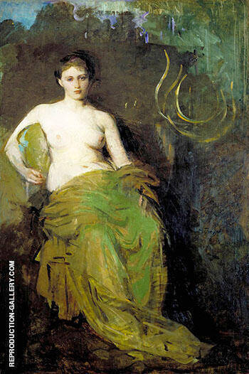 Reproduction of Half Draped Figure c1885 by Abbott H Thayer | Oil Painting Replica On CanvasReproduction Gallery
