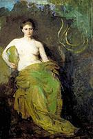 Half Draped Figure c1885 By Abbott H Thayer
