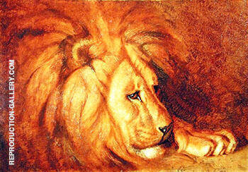 Reproduction of Lion at Rest by Abbott H Thayer | Oil Painting Replica On CanvasReproduction Gallery