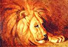 Lion at Rest By Abbott H Thayer