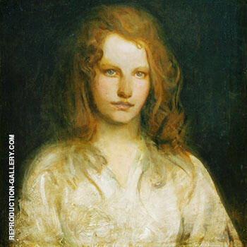 Margaret MacKittrick 1903 By Abbott H Thayer Replica Paintings on Canvas - Reproduction Gallery