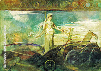 Reproduction of Minerva in a Chariot 1894 by Abbott H Thayer | Oil Painting Replica On CanvasReproduction Gallery