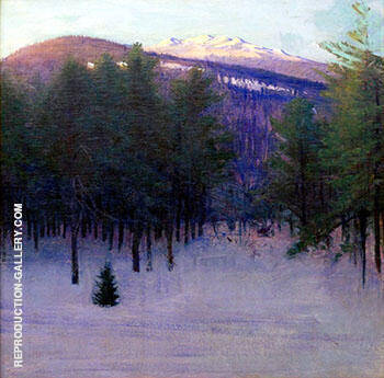Monadnock in Winter 1904 By Abbott H Thayer - Oil Paintings & Art Reproductions - Reproduction Gallery