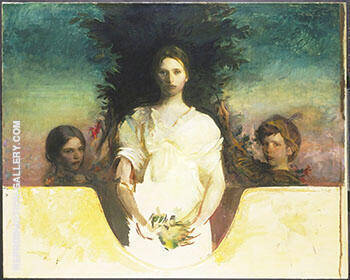 My Children 1896-1910 By Abbott H Thayer Replica Paintings on Canvas - Reproduction Gallery