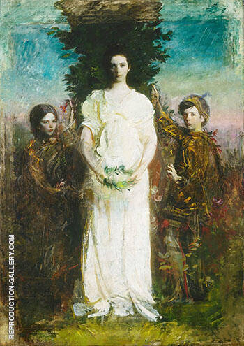 My Children 1897 By Abbott H Thayer Replica Paintings on Canvas - Reproduction Gallery