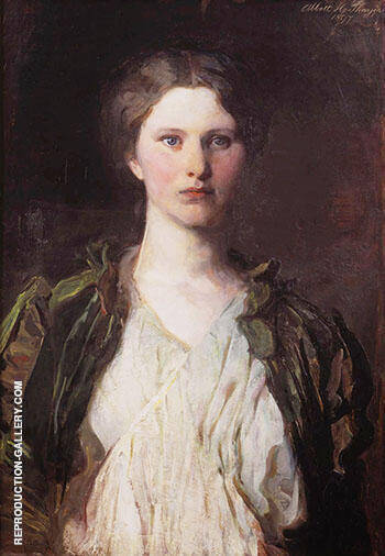 Portrait of Bessie Price 1897 By Abbott H Thayer - Oil Paintings & Art Reproductions - Reproduction Gallery