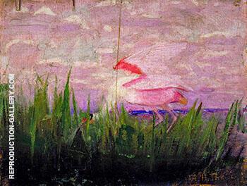 Roseate Spoonbill c 1905 By Abbott H Thayer - Oil Paintings & Art Reproductions - Reproduction Gallery