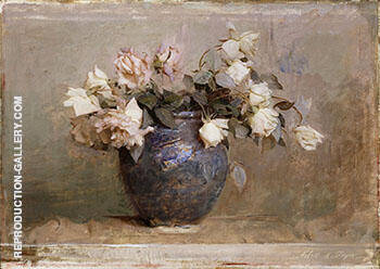 Roses 1890 By Abbott H Thayer - Oil Paintings & Art Reproductions - Reproduction Gallery