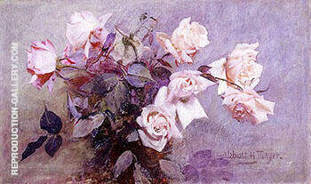 Roses By Abbott H Thayer - Oil Paintings & Art Reproductions - Reproduction Gallery