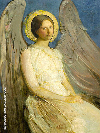 Seated Angel 1899-1921 Painting By Abbott H Thayer - Reproduction Gallery