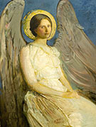 Seated Angel 1899-1921 By Abbott H Thayer