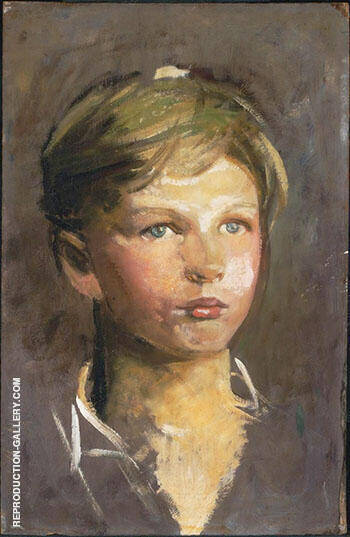 Sketch of a Young Boy 1895 By Abbott H Thayer Replica Paintings on Canvas - Reproduction Gallery