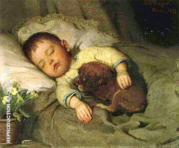 Sleep 1877 By Abbott H Thayer - Oil Paintings & Art Reproductions - Reproduction Gallery