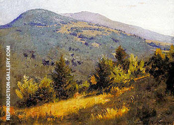 Spring Hillside 1889 Painting By Abbott H Thayer - Reproduction Gallery