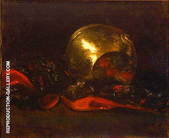 Still Life with Brass Vase and Kimono By Abbott H Thayer