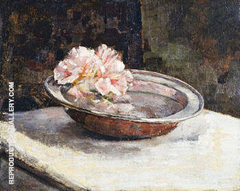 Still Life with Rhododendron 1886 By Abbott H Thayer Replica Paintings on Canvas - Reproduction Gallery