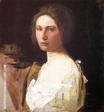 Study of Alma Wollerman 1908 By Abbott H Thayer Replica Paintings on Canvas - Reproduction Gallery